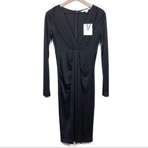 NWT Diane von Furstenberg Jersey Silk Wrap Front